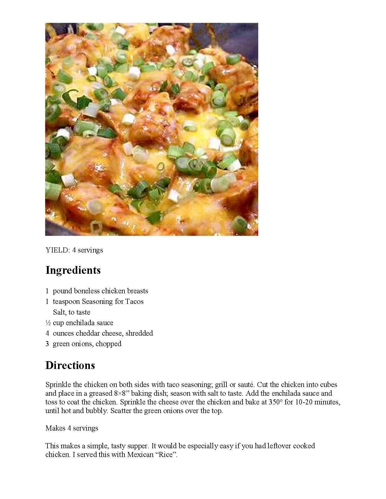 So many chicken recipes...