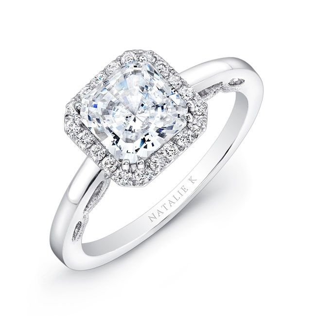 see katherine webbs engagement ring and get the look - Square Wedding Rings