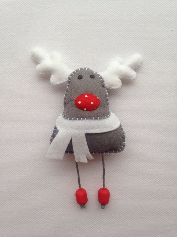 Banner de navidad guirnalda fieltro anticuados por puddlesandmeme fieltro navidad - Guirnaldas navidad manualidades ...