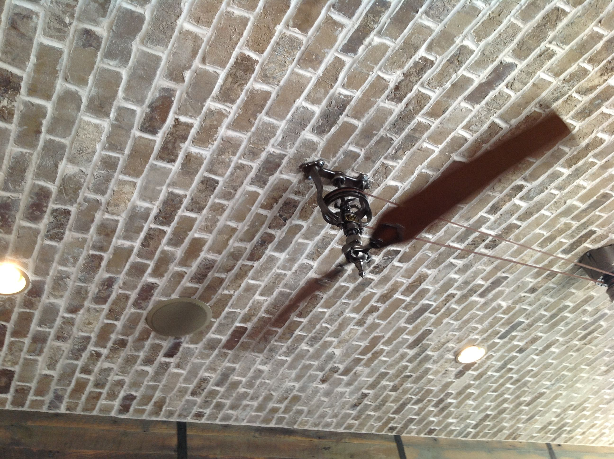 Brick Ceiling With Fan