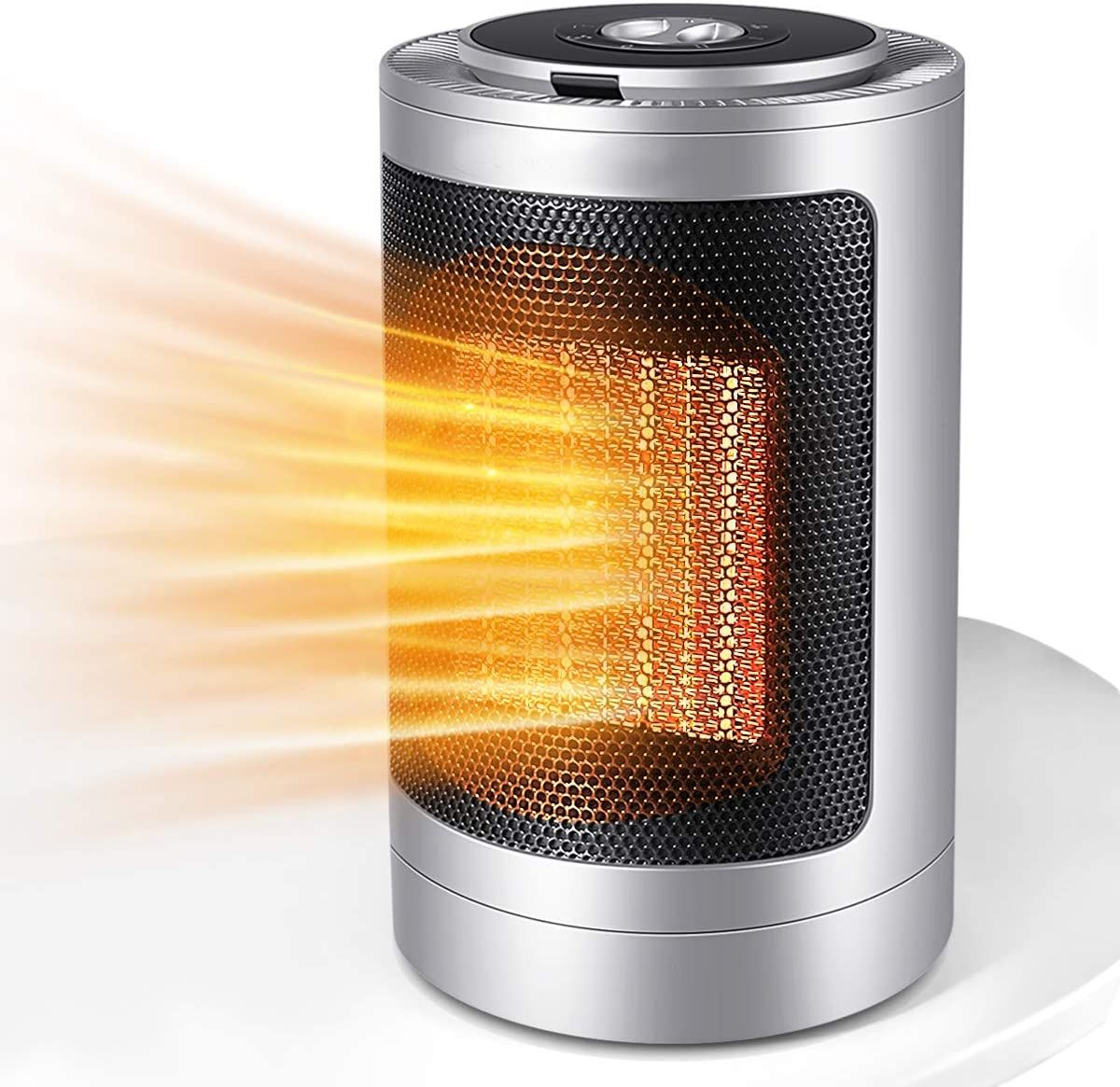 1500W Oscillating Ceramic Tower Heater 12Hrs Timer Remote Control /& LED Display for Home Office Indoor Use Infray Space Heater Portable Fast Heating Electric Fan Heater with Adjustable Thermostat