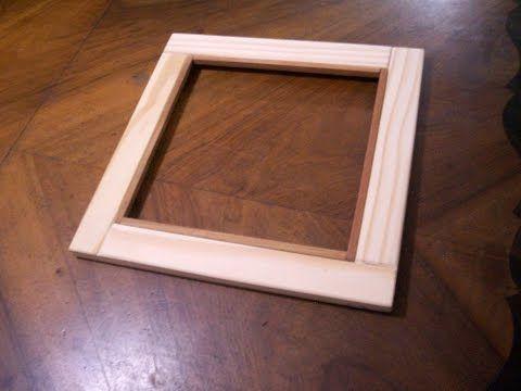 Como hacer un marco para cuadro youtube marcos vintage - Hacer marcos para espejos ...