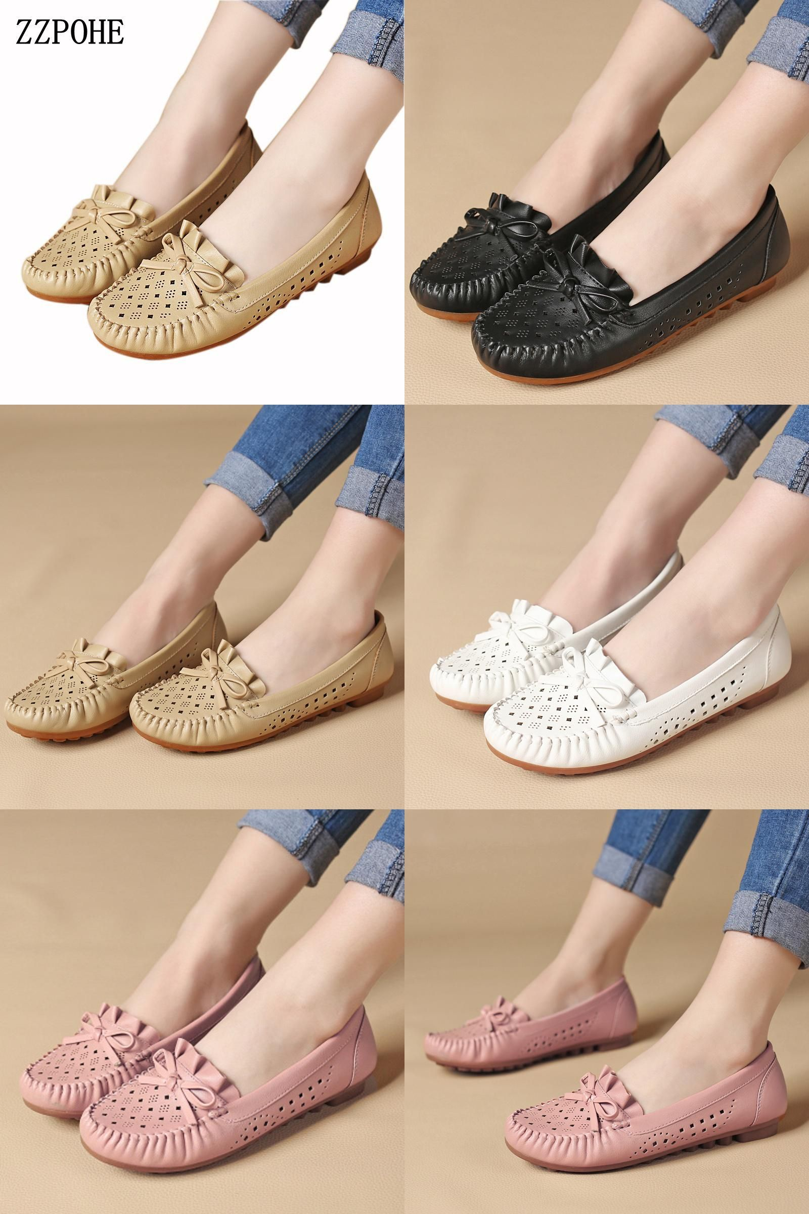 Visit To Buy Zzpohe Spring Women S Shoes Fashion Breathable Mom Casual Shoes Middle Aged Non Slip Comfortabl Women Shoes Flat Shoes Women Fashion Shoes Flats