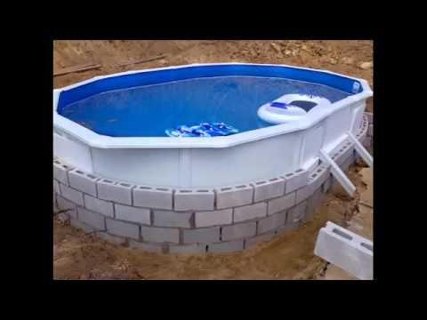 Como enterrar una piscina desmontable como hacer una for Como hacer una piscina en una terraza