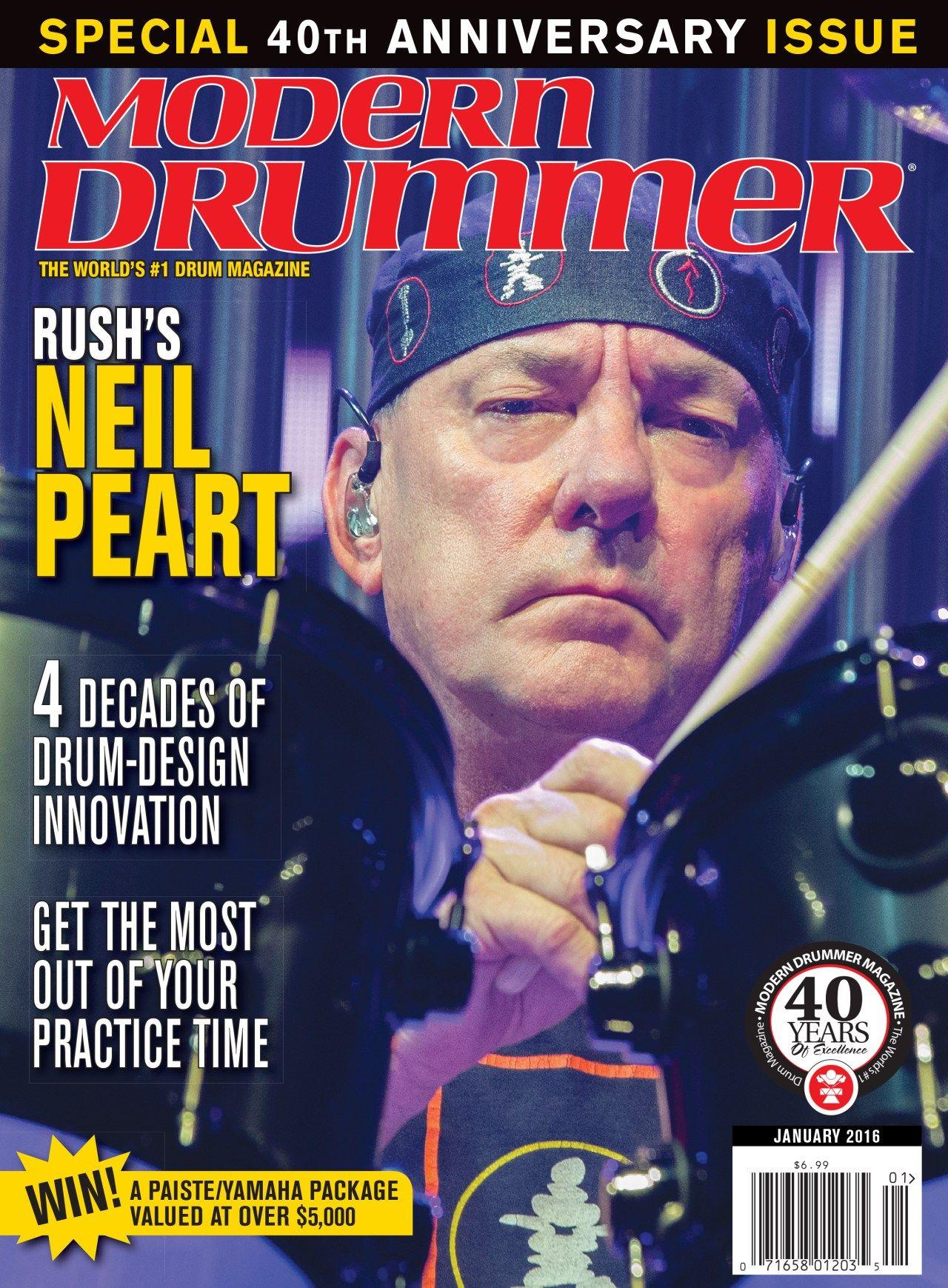 Neil Peart Modern Drummer Magazine In 2020 Modern Drummer Neil Peart Drummer