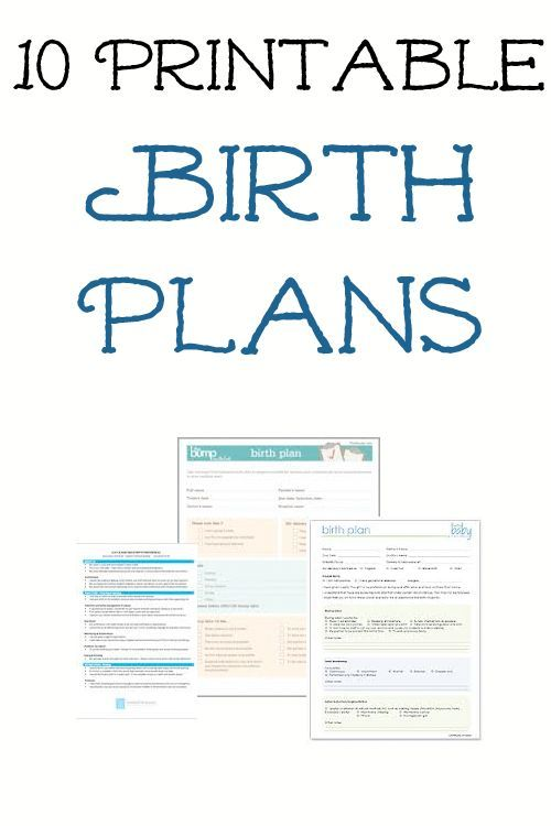 sample birth plans