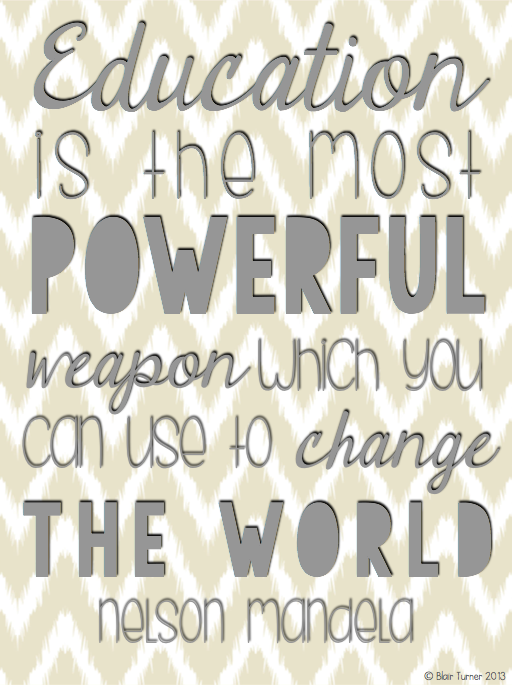 Nelson Mandela Quote Posters (BlairTurner.com) | Quote posters ...