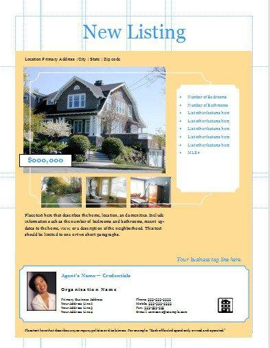 New Listing Flyer Stationary Templates Pinterest Flyer