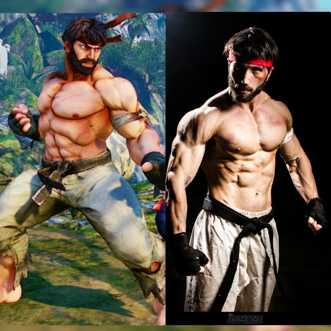 Cosplay Vs Character Ryu Street Fighter 5 Street Fighter Cosplay Ryu Street Fighter Ryu Street Fighter 5
