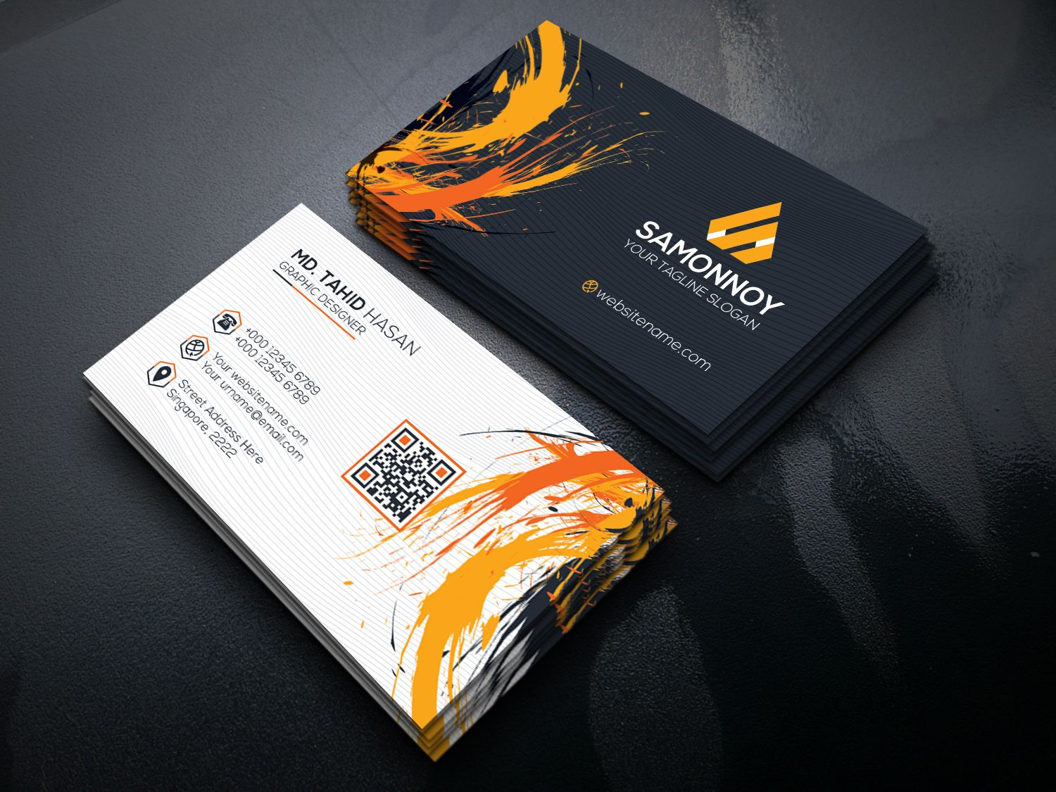 Pin By Nextxpace On Business Card Designs Painter Business Card Visiting Card Design Business Card Logo