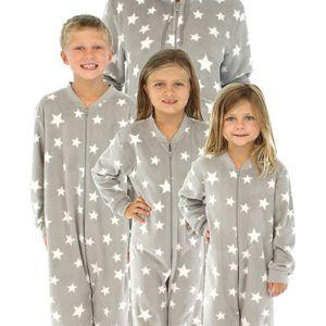 SleepytimePjs Stars Onesie Footed Family Matching Pajamas (6)