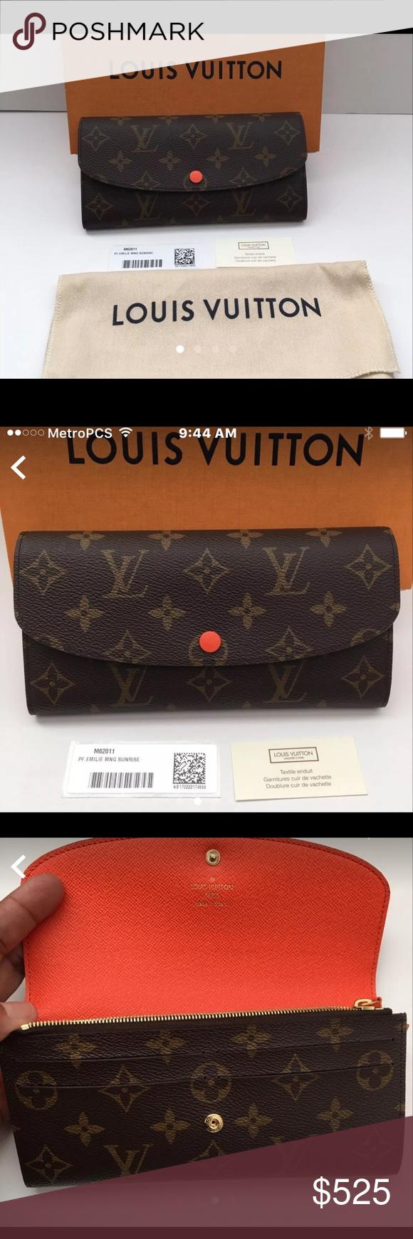 794be6e50da8 Louis Vuitton Emilie Wallet-Authentic New with Box