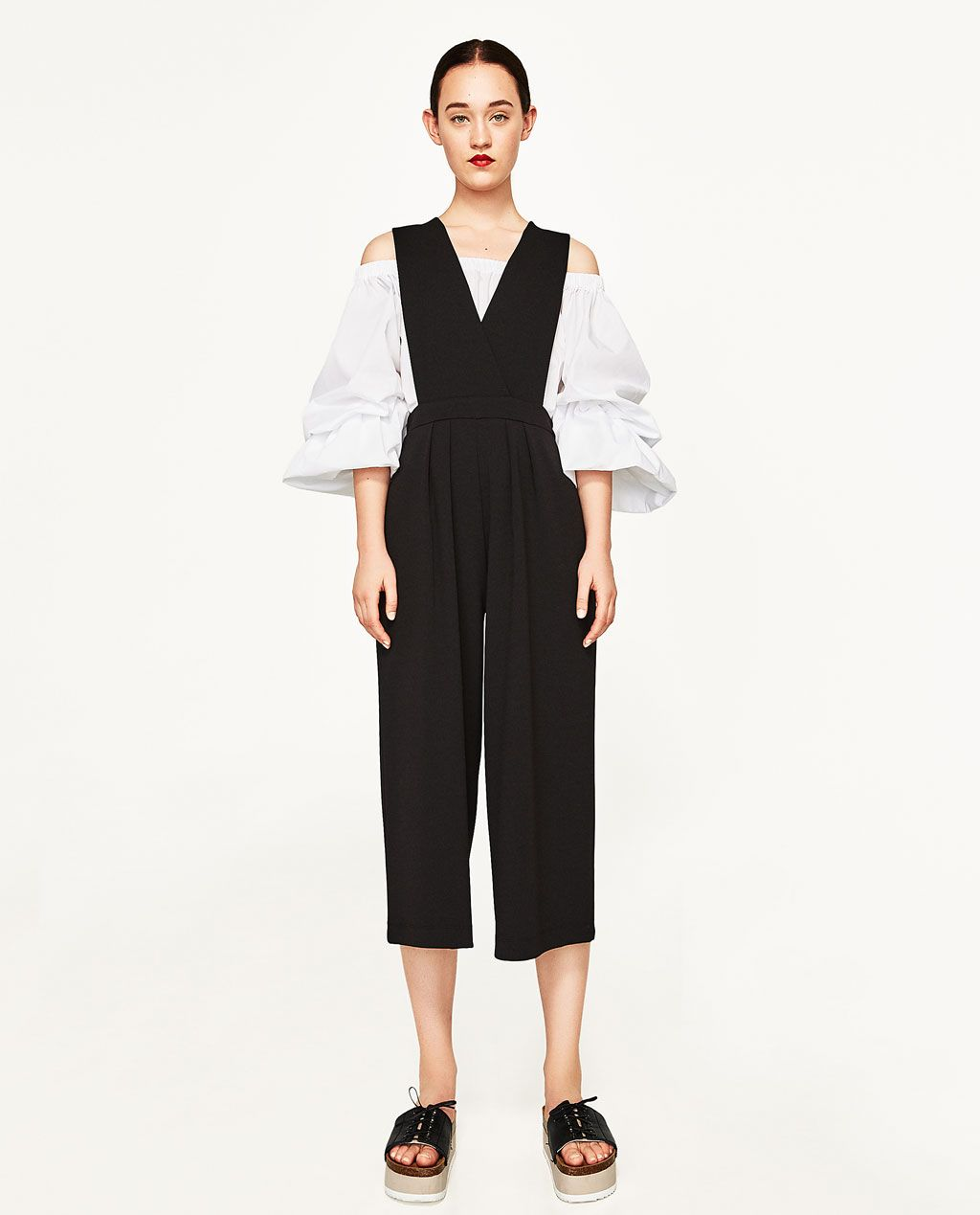 V-NECK JUMPSUIT-JUMPSUITS-WOMAN | ZARA Japan | Spring&Summer ...