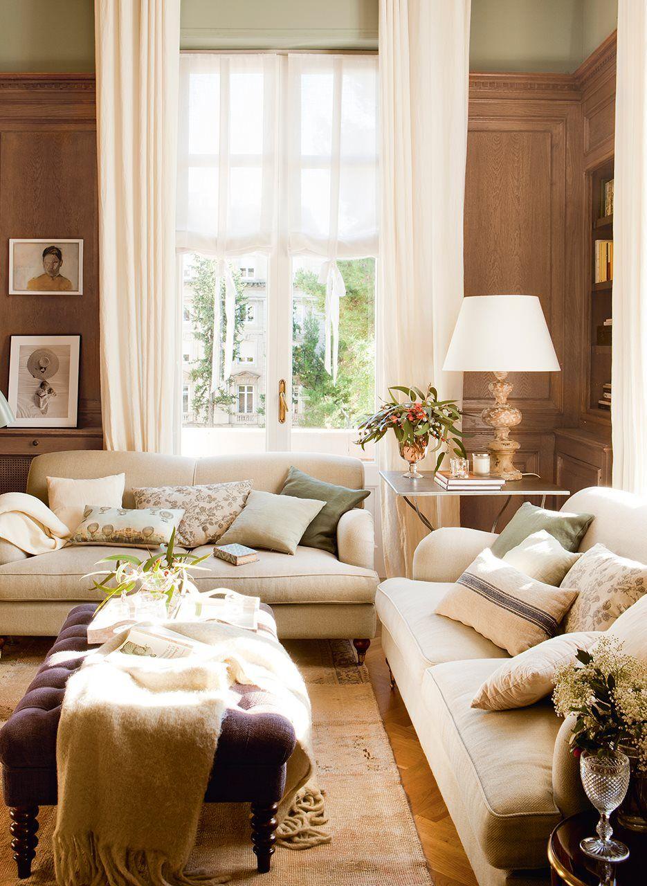 Innenarchitektur wohnzimmerfarbe hacia la ventana  casas bonitas  pinterest  kleine wohnung