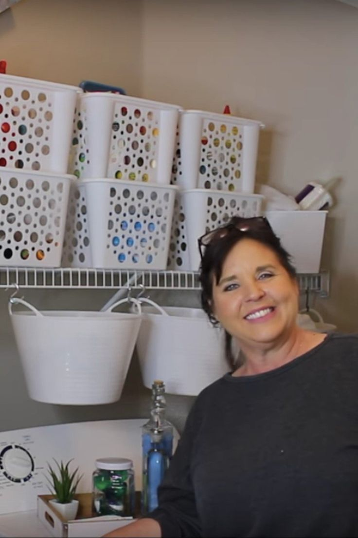 Woman Transforms Tiny Laundry Room With Dollar Tree