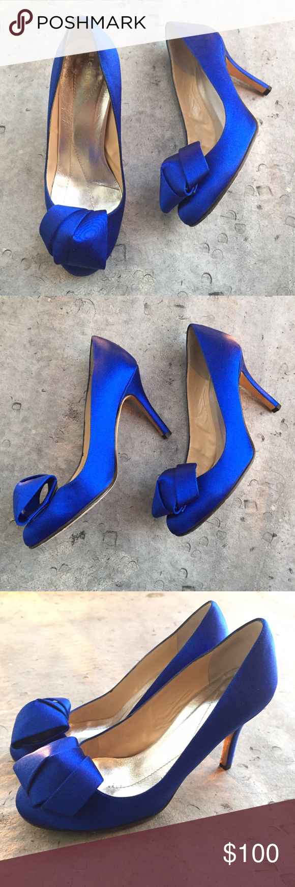 09cbb88cc7ba Kate Spade Blue Satin Ribbon Pumps Gorgeous blue satin Kate Spade heels.  Perfect to wear with a party dress. kate spade Shoes Heels