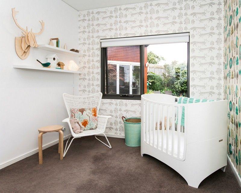 idée de papier peint, meubles et décoration originale dans la