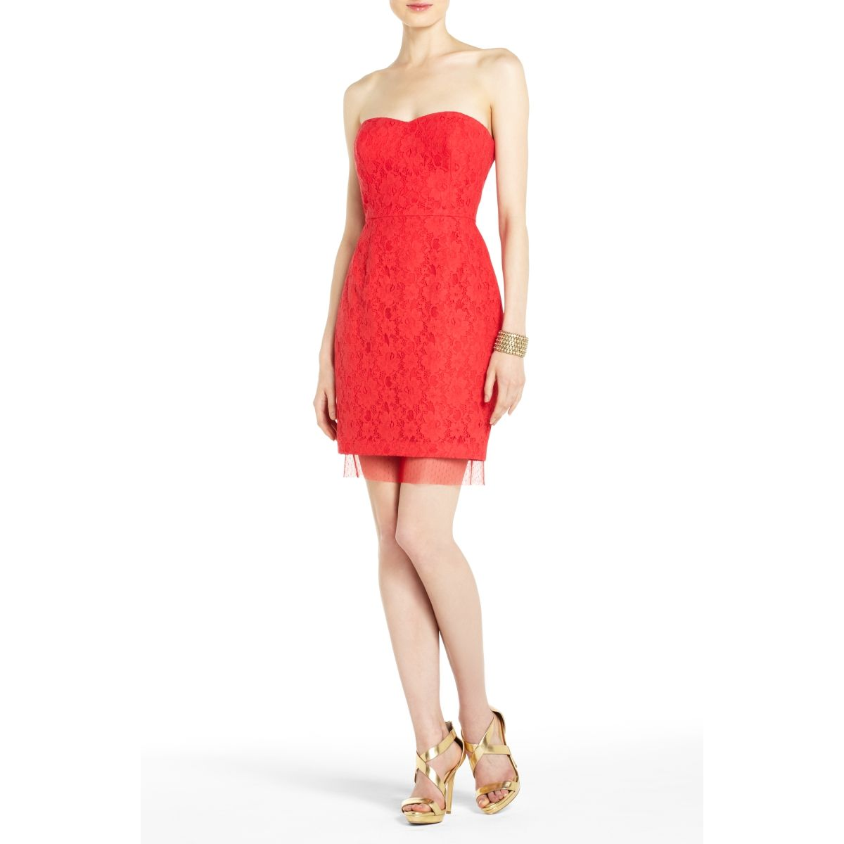 Great lace cocktail dress with tulle trim at the hem. So cute for ...
