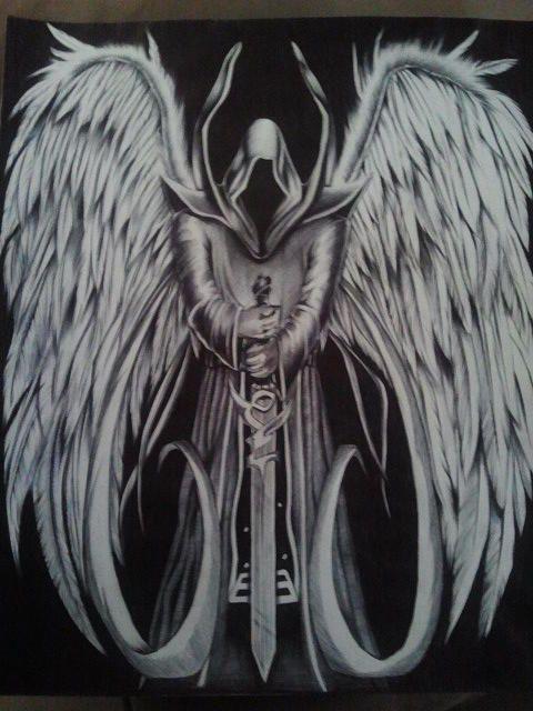 angel of death drawing fallen angels pinterest. Black Bedroom Furniture Sets. Home Design Ideas