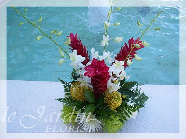 Tropical Flower Arrangements By Le Jardin Florist Palm Beach Gardens U0026  North Palm Beach.
