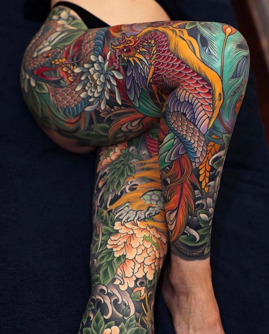 Cool tattoo designs for back japanese legsleeve tattoos by johansvahntattooing japaneseink