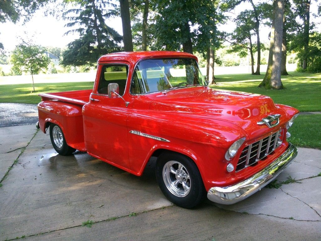 1955 Chevy Truck 1955 Chevy Pickup Red 9 Hirez With Images