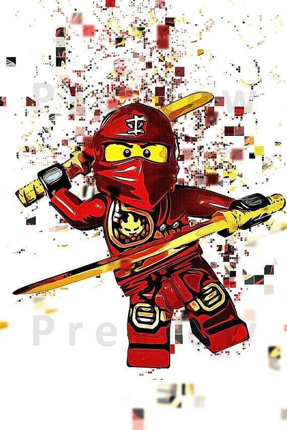 kai  pixelkunst lego ninjago skizzen