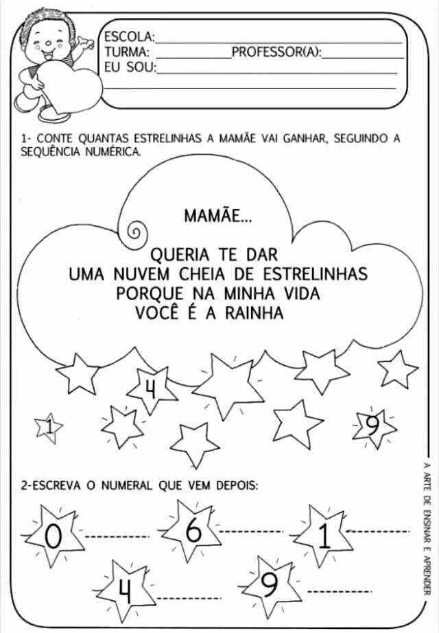 Pin De Rosa Em Matematica Atividades Do Dia Das Maes Datas