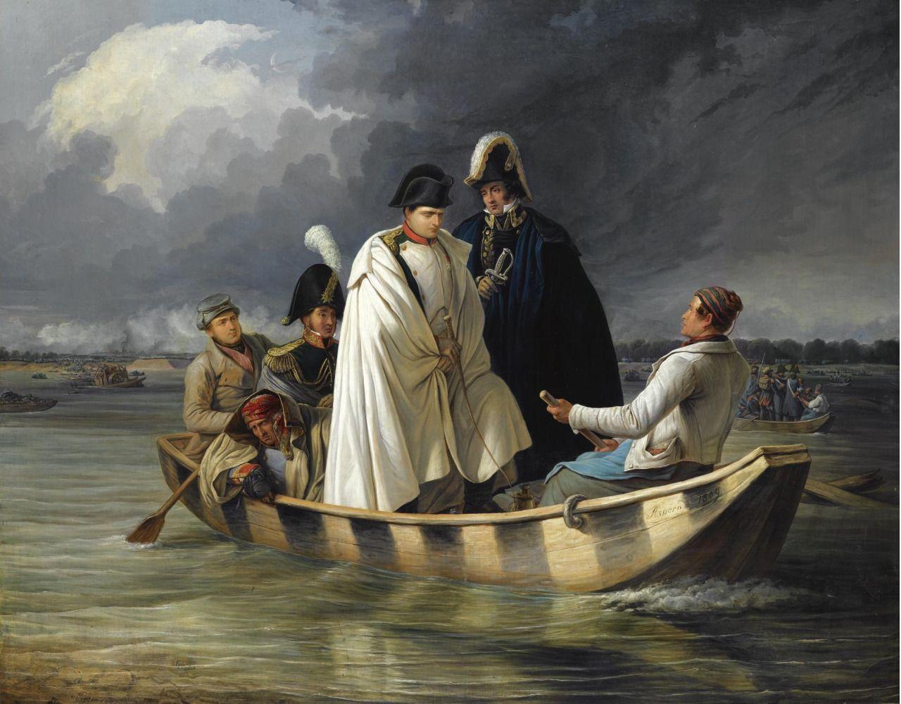 valinaraii: Anton Ritter von Perger (1809-1876): Napoleon after the battle of Aspern-Essling. And detail.source