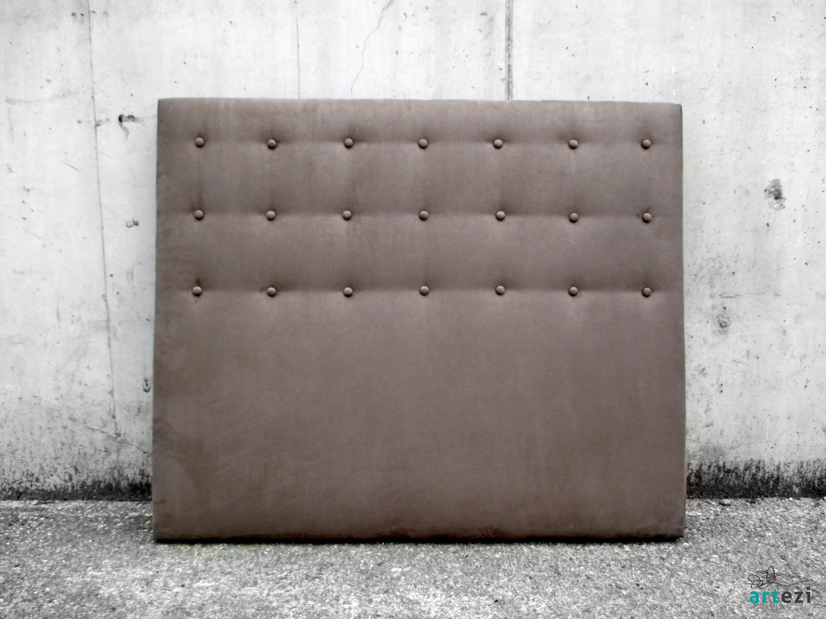 Cabecero para cama de 135cm tapizado en tela agradable al - Telas para forrar cabecero cama ...