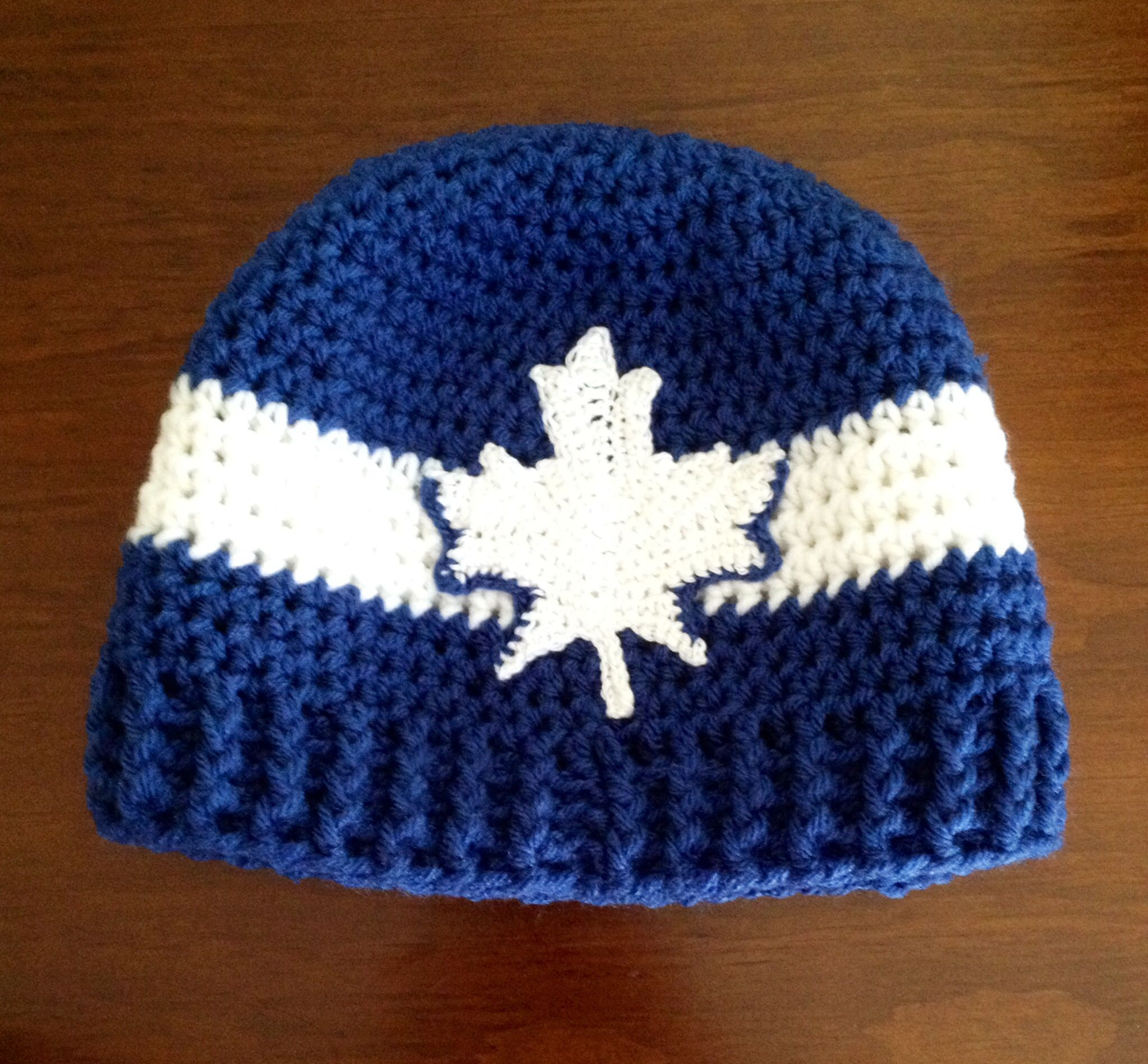 check out 5ab1f 54873 Free Crochet Pattern For Toronto Maple Leaf Hat | Jidileaf.co