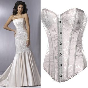 Smooth Satin Floral Bridal Corset Features A Sweetheart Neckline With A Classic Push Up Look Weddingaccessories Boda Lenceria