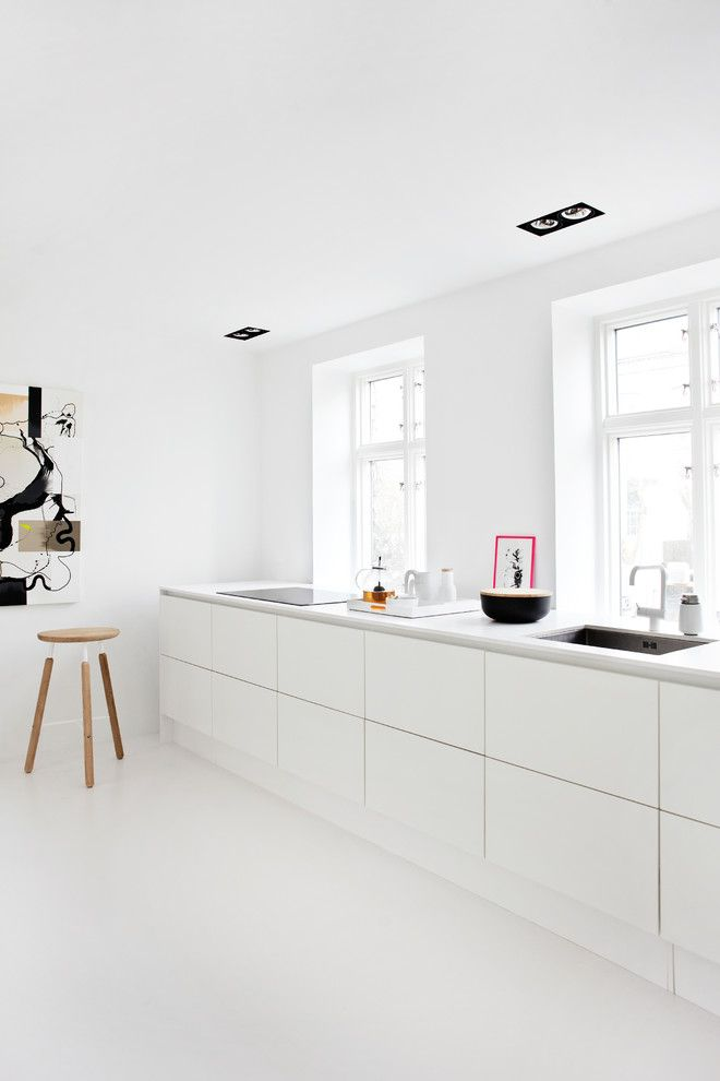 All White Scandinavian Kitchen Design Scandinavian Kitchen Design Kitchen Without Wall Cabinets Kitchen Without Wall Units