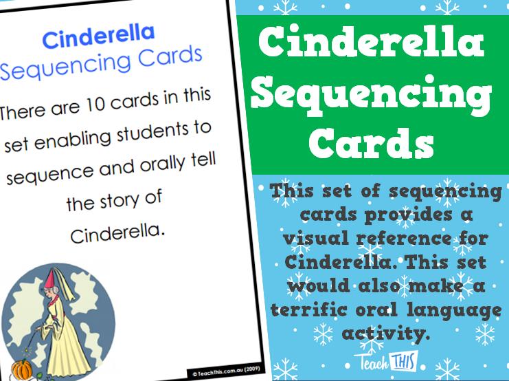 Cinderella Sequencing Cards Sequencing cards, Oral