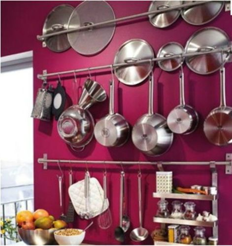 Details About Ikea Wall Shelf 31 Quot Stainless Steel Pot Pan