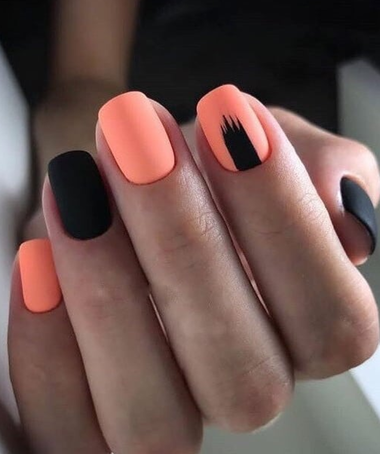 30 Gorgeous Black Nails Design For Short Square Nails Short Square Nails Square Nail Designs Short Acrylic Nails