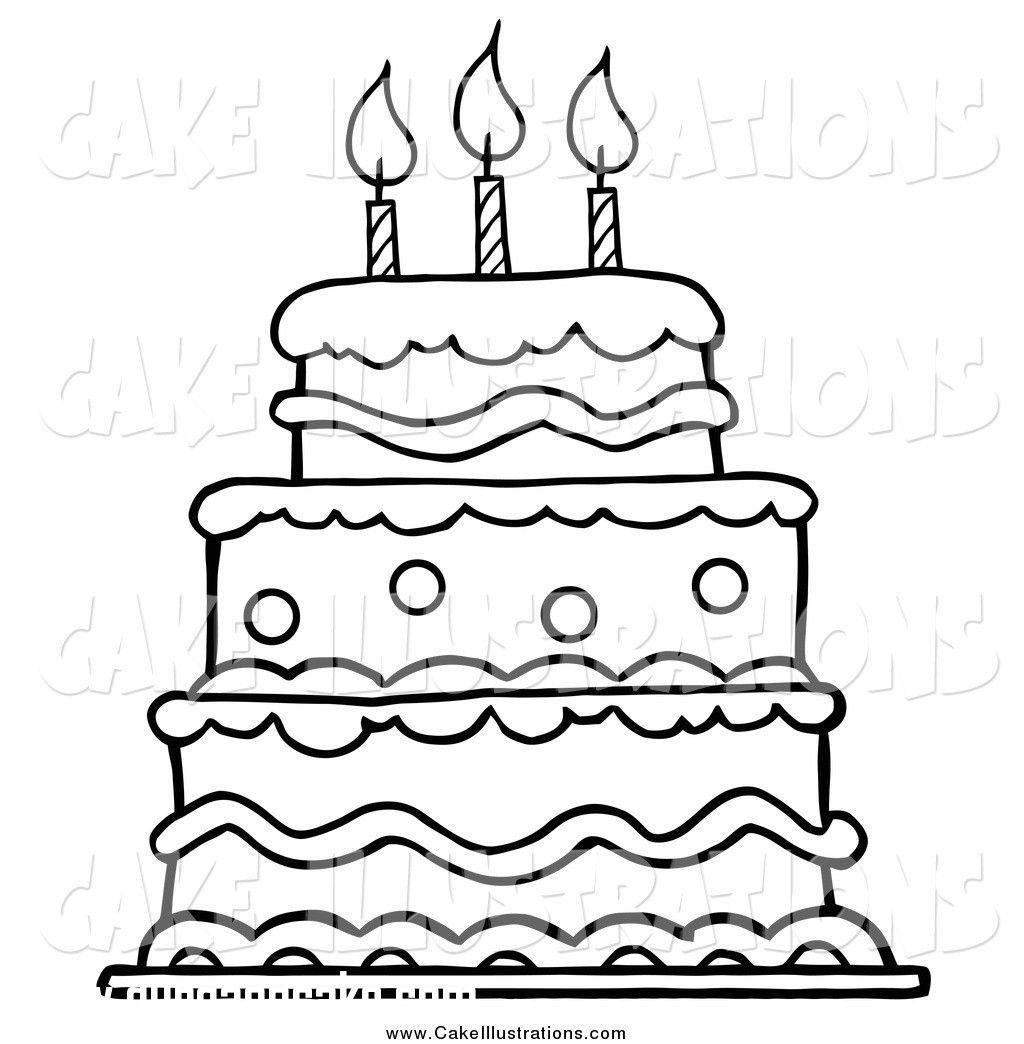 Birthday Cake Black Clip Art Happy Birthday Cake Clipart