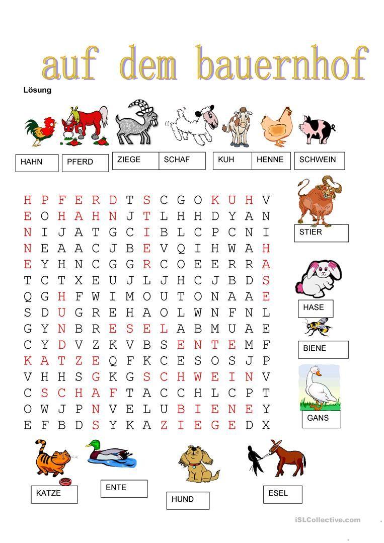 Tiere - Auf dem Bauernhof | Sprachaktivitäten | Pinterest | Tiere ...
