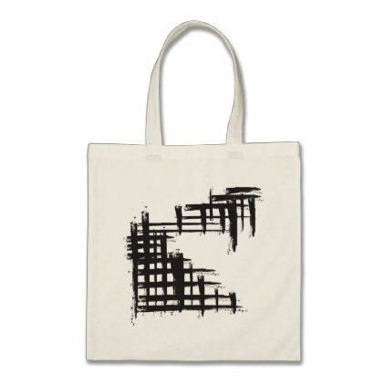 Abstract Geometry Brushstroke Tote Bag  Pattern Sample Design