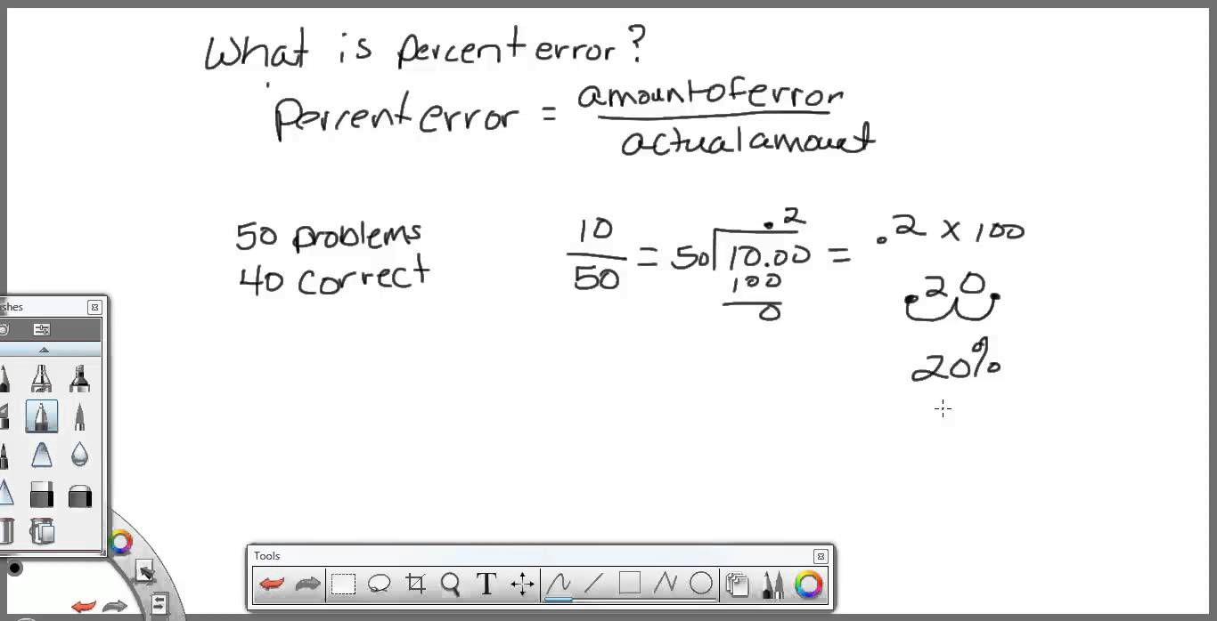 small resolution of Percent Error - sims   Word problem worksheets