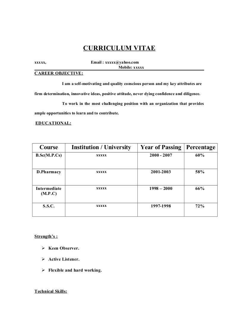 D pharma resume format format pharma resume resume