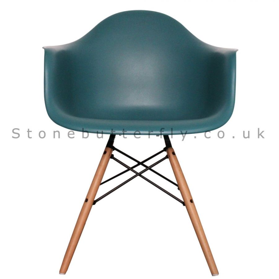 Excellent Charles Ray Eames Style Daw Arm Chair Teal Kitchen Gmtry Best Dining Table And Chair Ideas Images Gmtryco