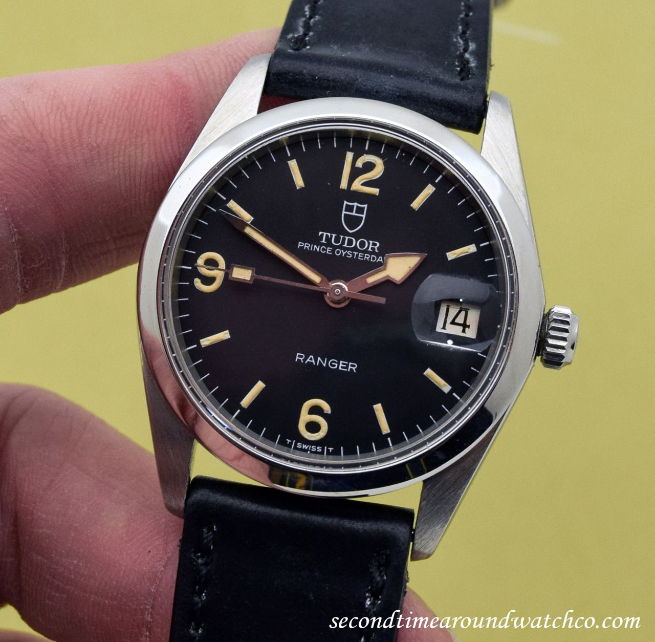 Nice A 1978 Vintage Tudor Ranger Ref 9050 0 That Features Black Rolex Parts Diagram For Cal 3035 1 Gent39s Datejust As It Dial With Luminous Arabic Numerals And Bar Markers This Cool Piece Also Comes Strapped