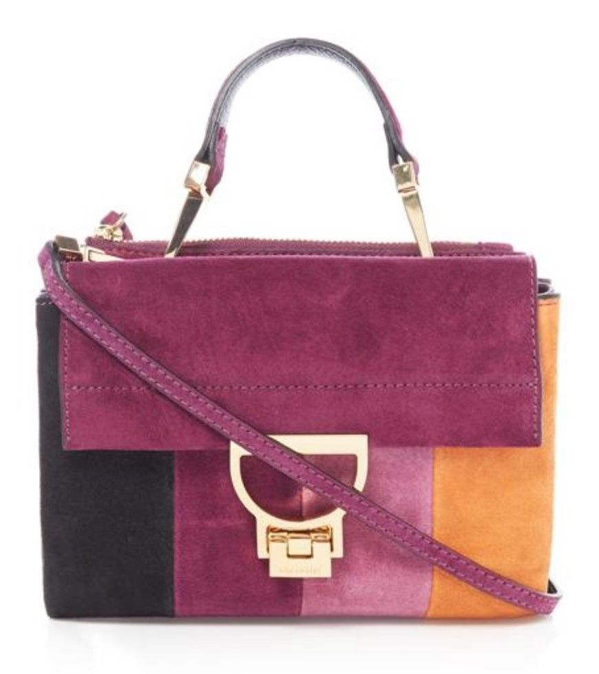 Coccinelle Top Handle And Shoulder Crossbody Bag Just Under 300 Rocks The 70 S Vibe Of Different Colour Suede
