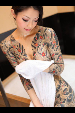 women Japanese tattoos full body
