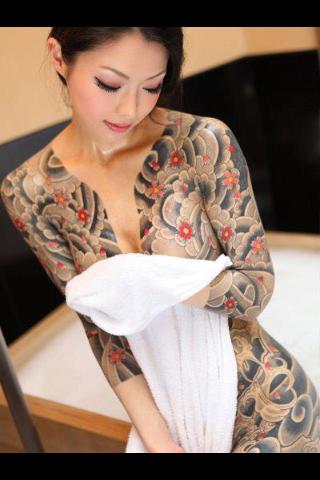 women tattoos full Japanese body