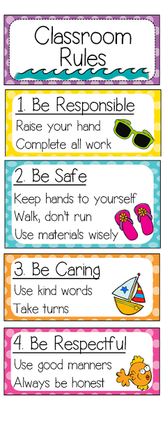 have the classroom rules visible so students never have the excuse