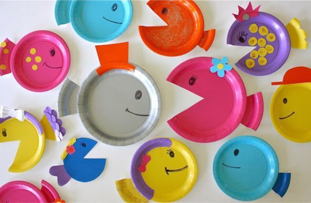 toddler fish project | Paper Plate Fish Craft Kids Craft Projects | Sweet baby & toddler fish project | Paper Plate Fish Craft Kids Craft Projects ...