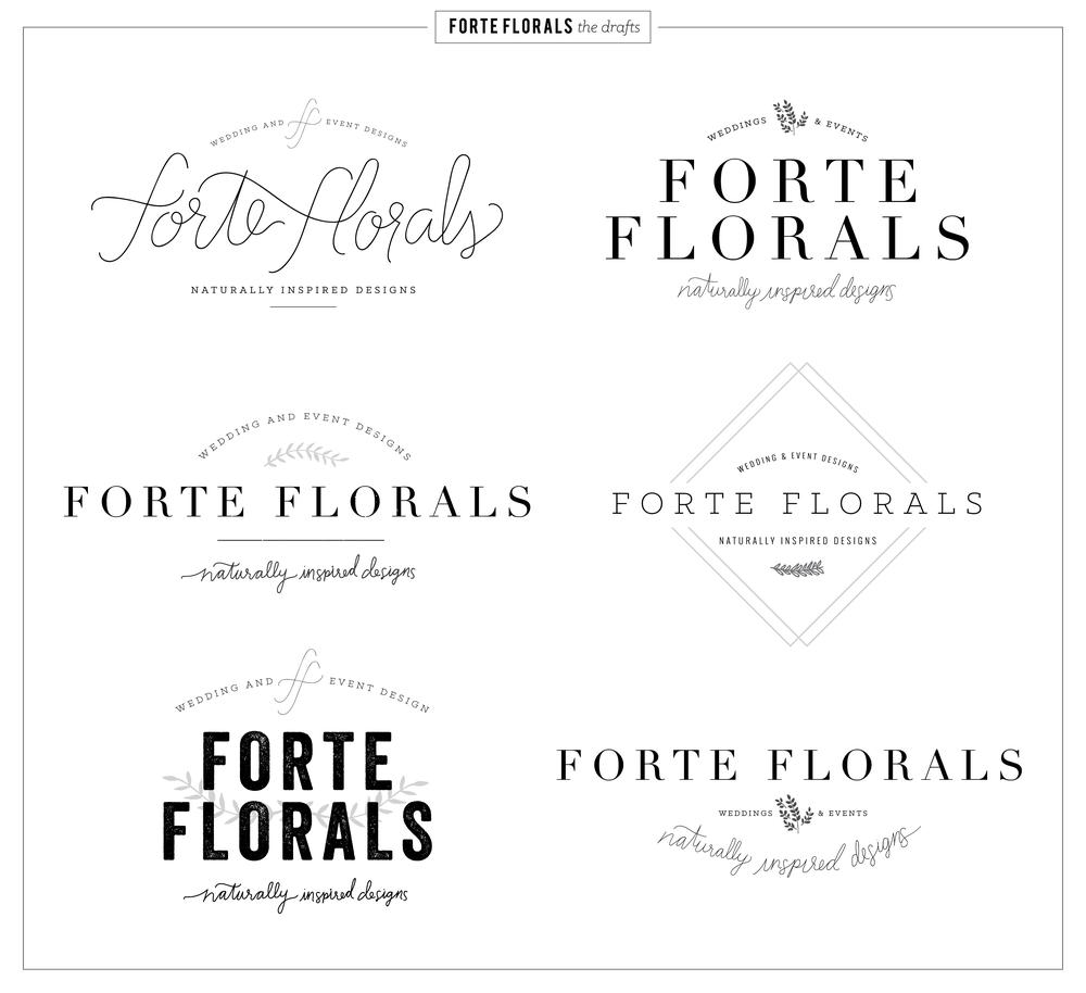 Forte Florals Logo Design and Branding concepts — 23&9 Creative