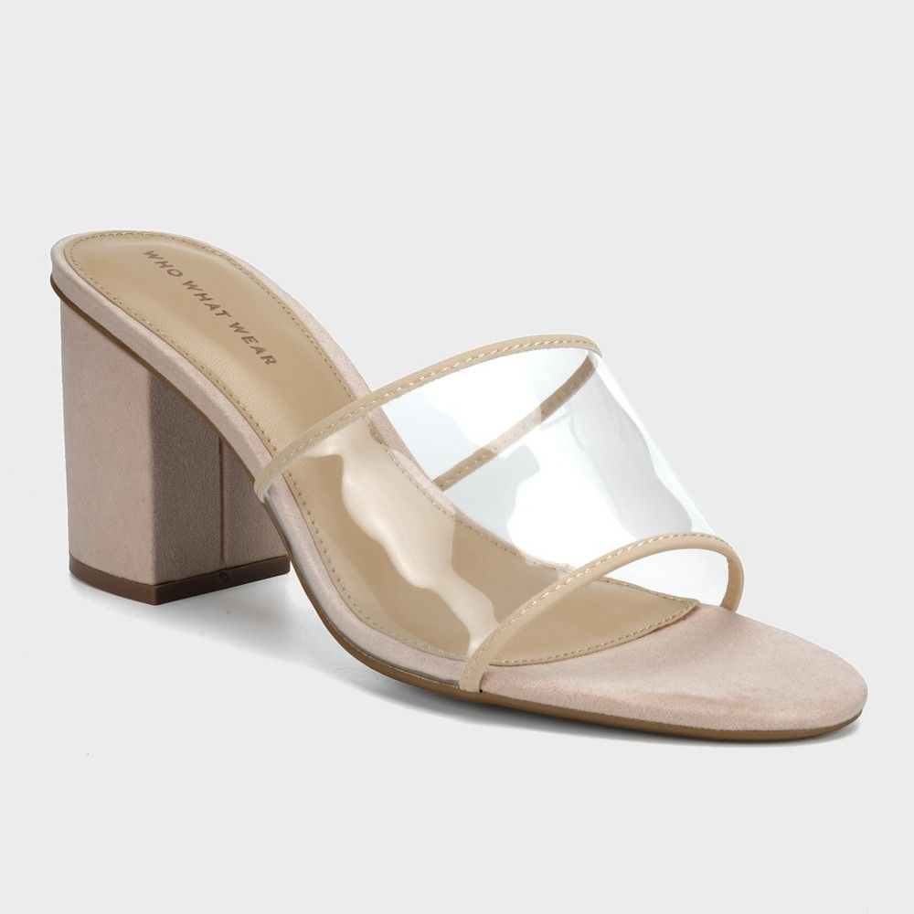 fc13932d566b Women s Danielle Vinyl Heeled Mules - Who What Wear Taupe (Brown) 7.5